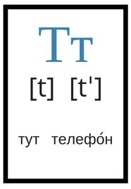русский алфавит с произношением т