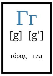 русский алфавит с произношением г
