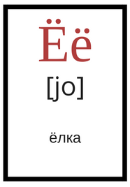 Russian alphabet ё