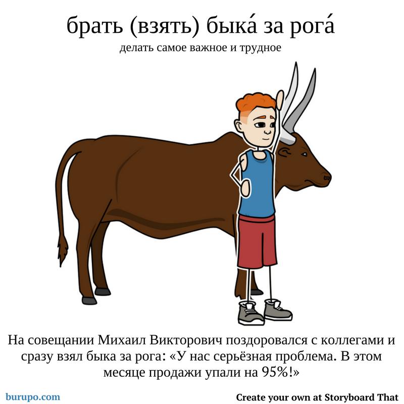 Брать / взять быка за рога