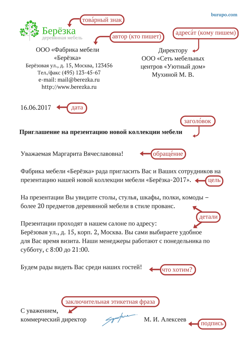 Business Letter In Russian Structure Russian For Life And Work