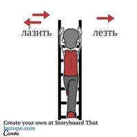 глаголы движения / russian verbs of motion / лазить - лезть
