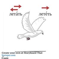 глаголы движения / russian verbs of motion / летать - лететь