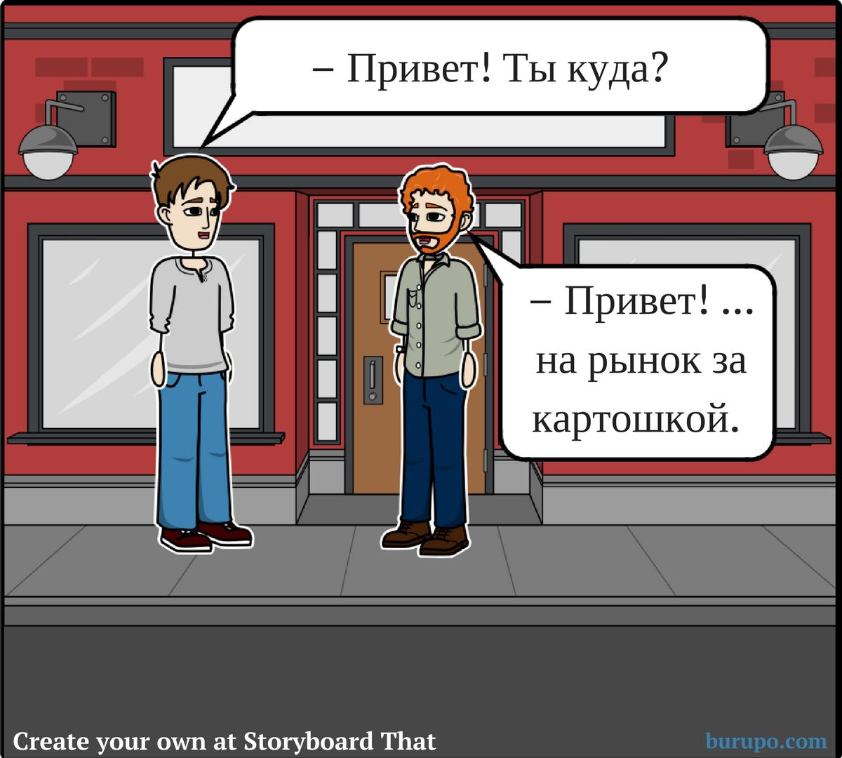 глаголы движения / russian verbs of motion example 1