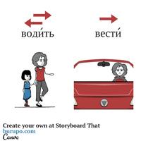 глаголы движения / russian verbs of motion / водить - вести